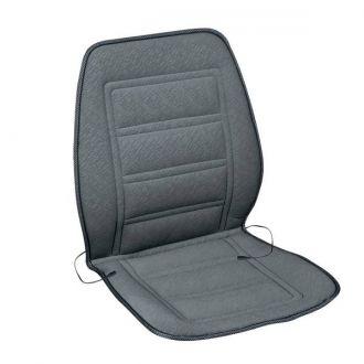 Подогрев сиденья со спинкой  SKYWAY с терморегулятором (2 режима) Серый 12V 95х47см 2,5А-3А  (2 шнура: справа, слева)
