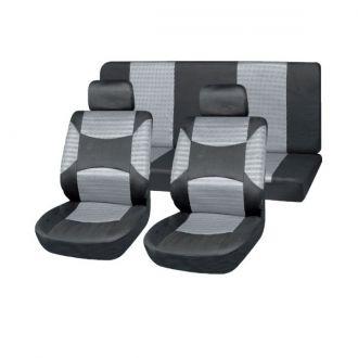 Чехлы сиденья полиэстер 11предм.  SKYWAY DRIVE SW-111026 S/S01301023 Черно/Cерый