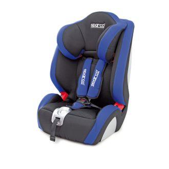 """Детское кресло Sparco"""" (F 1000K), группы 1/2/3 (9-36 кг/9 мес-12 лет), полиэстер + объёмная сетчатая ткань, чёрн./синий"""
